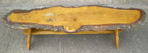 Rustic Look, Long Log Style Coffee Table